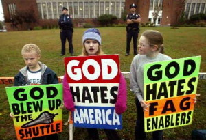 "Westboro Baptist Church Pickets Newton School Funerals: Say Kids Deserved to Die Because America Loves ""Fags"""