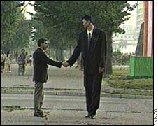 Michael Ri in Pyongyang 1998 with CNN correspondent Mike Chinoy