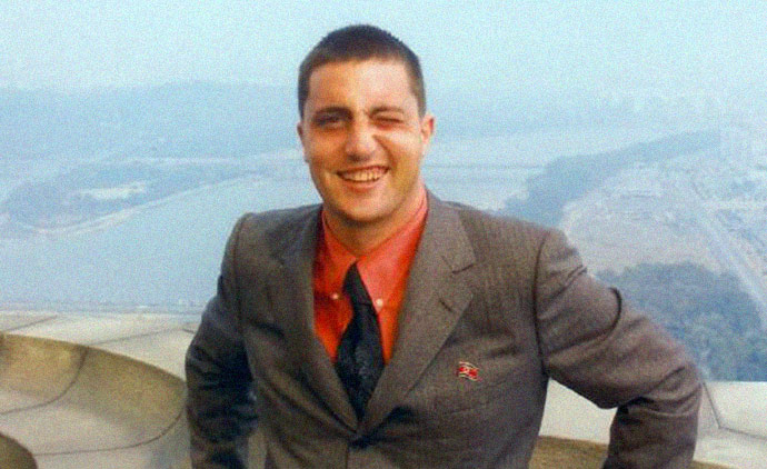 ohn Paul Cupp at the top of the Juche Tower, Pyongyang, North Korea, on an official trip by invitation of the North Korean government as head of the U.S. Songun Politics Study Group in 2006
