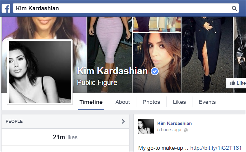 Like Lamont, Kim Kardashian uses social media to build her brand so she can afford extra treats