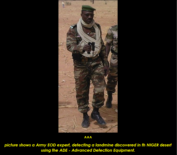 Niger bomb detector device