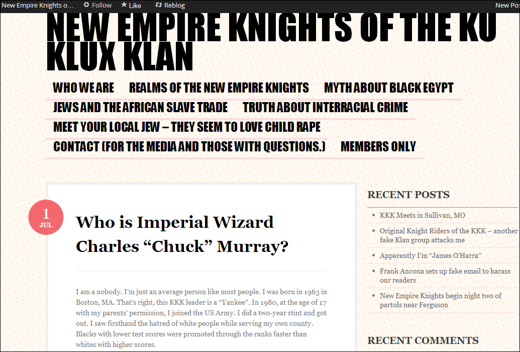 who is imperial wizard charles chuck murray