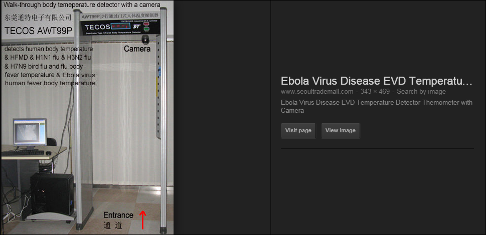 "One of many fake ""Ebola Detectors"""