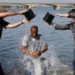 "Two-time Grammy-winning rapper Pras Michel, a founding member of the Fugees, takes the ALS ""Ice Bucket Challenge"" in the North Korea's capital on Sunday."