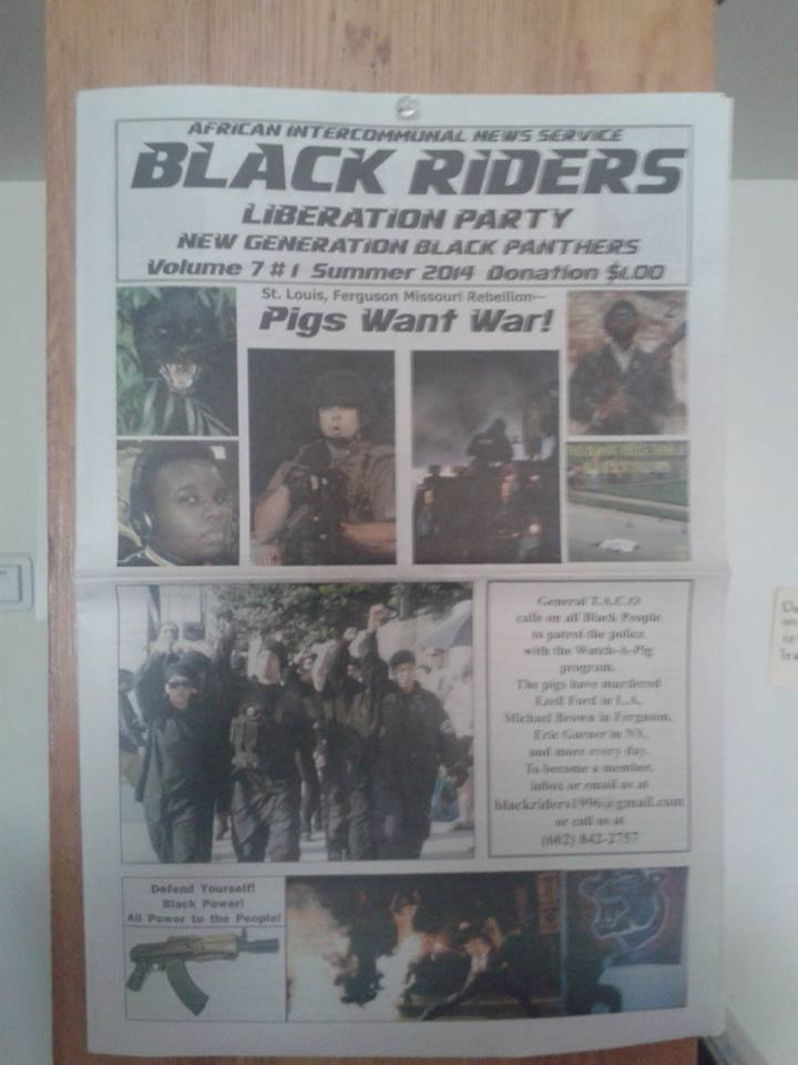 Black Riders Liberation Party newspaper