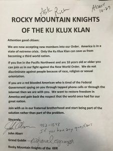 Huffington Post partners with Montana crackpot to create Jew, black-friendly Ku Klux Klan in mutual bid for webpage traffic