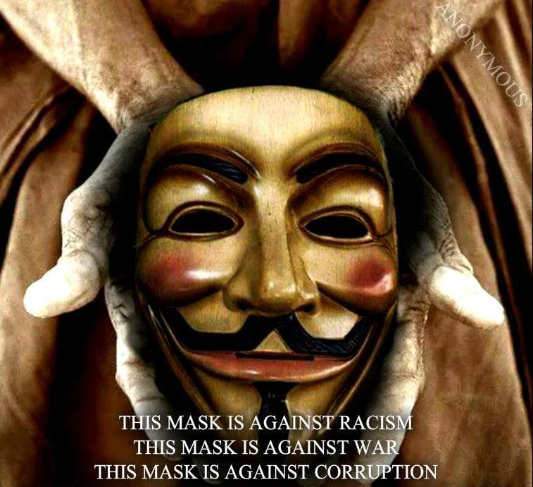 Anonymous graphic addressing issues of common ground with the KKK