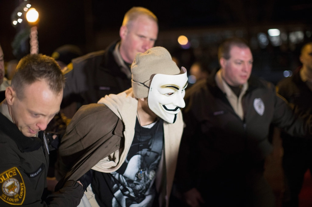 Anonymous leader arrested in Missouri before he was released and met with the KKK
