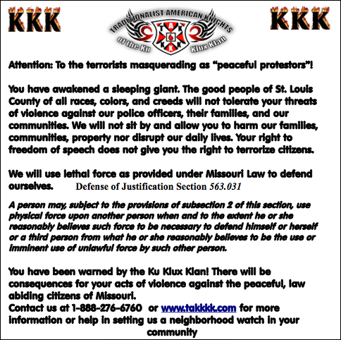 Ku Klux Klan leaflet that prompted Anonymous to hack the extremist white power group's online websites
