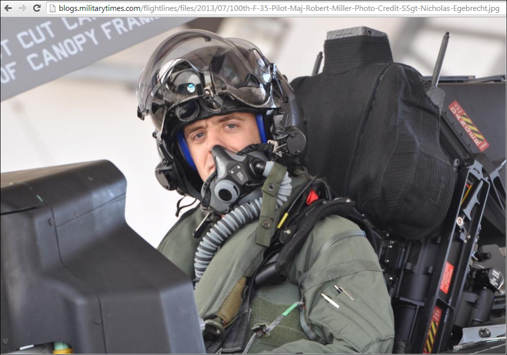 U.S. Air Force Major Robert Miller, brother of detained American in North Korea Matthew Miller, is an elite test pilot for the F-35 combat airplane