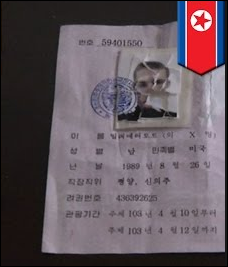 Allegedly torn tourist visa Matthew Miller allegedly ripped up upon arrival in North Korea in April
