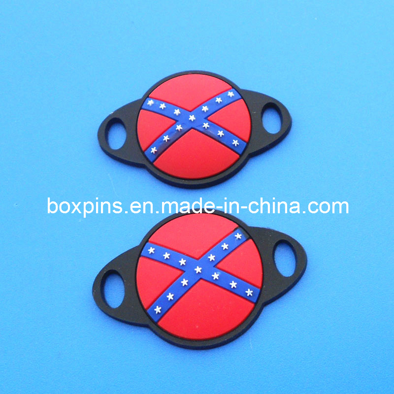 Confederate-Flag-Custom-Shoelace-Charm-Soft-PVC-Shoe-Accessory