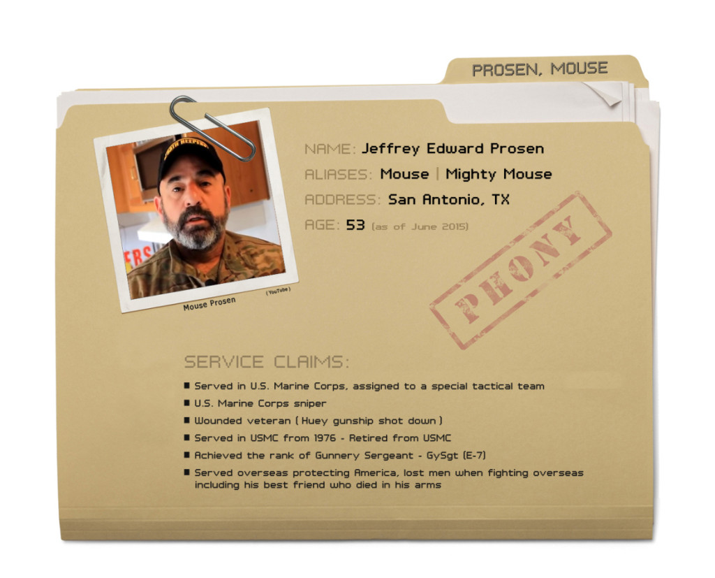 Jeffrey Prosen exposed as a military fraud