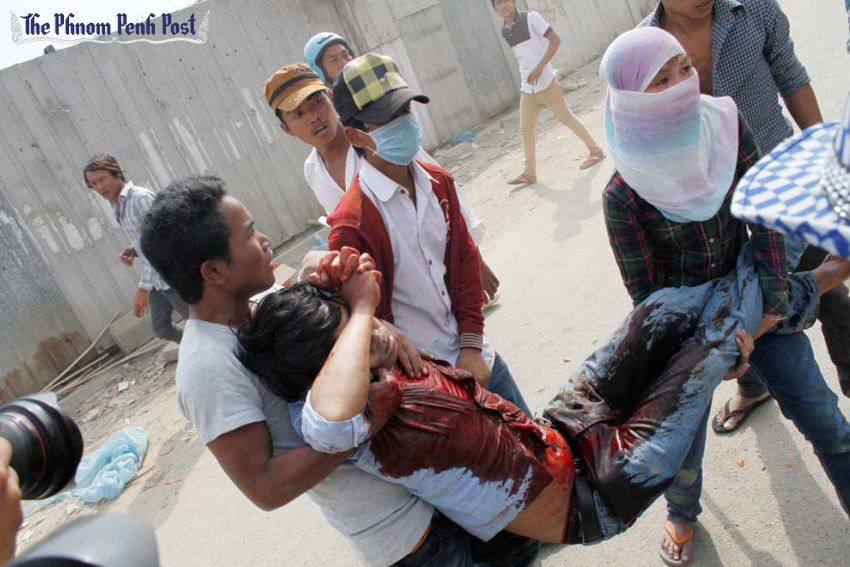 Hun Sen's forces attacking and murdering peaceful protestors
