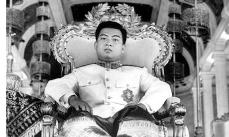 King Norodom Sihanouk after he was installed by the French