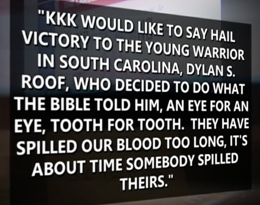 A voice message left on the hotline of Chris Barker's Loyal White Knights of the KKK shortly after the mass murder of the four black church parishioners in South Carolina