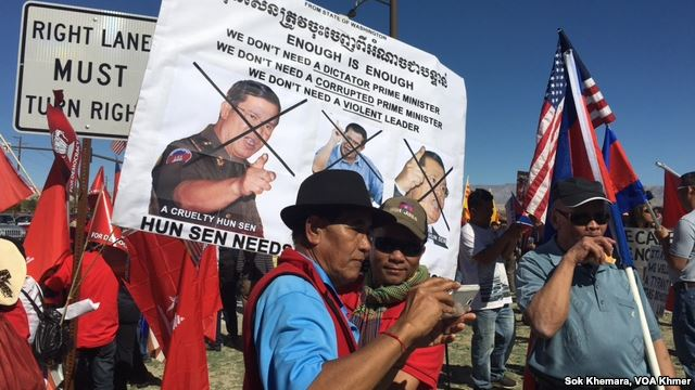 Demonstrations in California this week against the visit of Hun Sen to attend an ASEAN meeting headed by President Obama