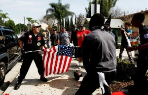 KKK Leader Arrested for stabbing protestor with U.S. Flag is Trump Supporter