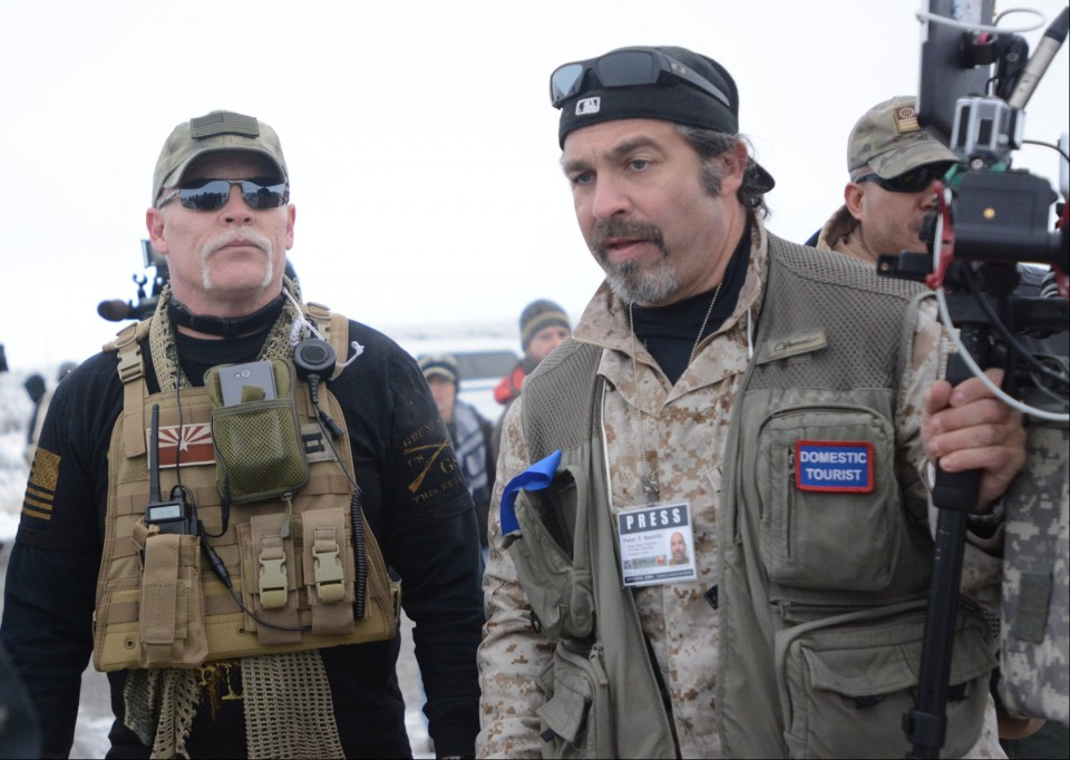 Pete Santilli, who calls himself a journalist, all kitted up at the armed occupation of the Oregon wildlife refuge in January
