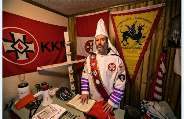 Ancona of the Traditionalist American Knights of the KKK dressed up in full regalia