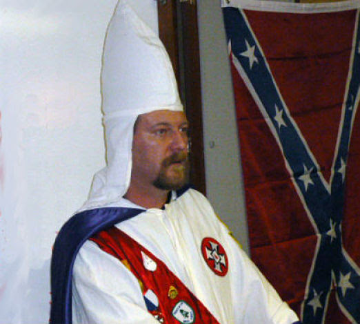 Chris barker, Imperial Wizard of the Loyal White Knights of the KKK