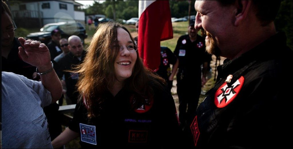 LWK Imperial Wizard Chris Barker with is wife, Amanda