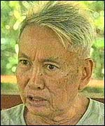 "Pol Pot during interview October 16, 1997 with author. it was his only public statements since he was driven from power two decades earlier and his last before his death 6 months to the day later. He refused to express any remorse. ""Look at me. Am I a savage person?"" he said"