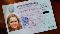 Sophie Schmidt's North Korean ID card
