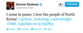 Dennis Rodman Tweeting From Pyongyang