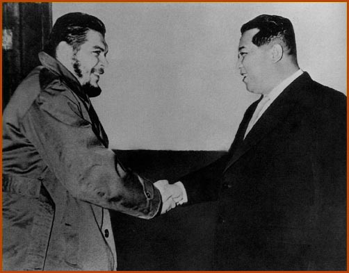 Kim Il Sung and Che Guevara in Pyongyang