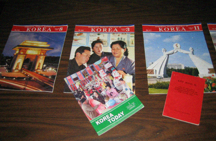 Literature and propaganda material also sent by the North Korean government to the Rural People's Party (RPP)