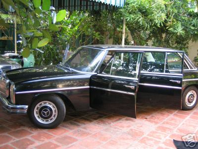 For Sale – Pol Pot's Mercedes Stretch Limo: 1973 Mercedes Benz E115 LWB stretch limo to fund book Sympathy for the Devil on war criminal's lifework