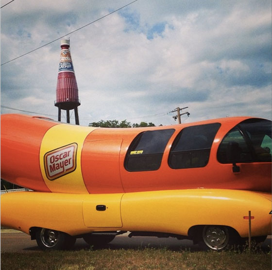 THe Oscar Meyer Weinermobile was a cause of political concern to white people
