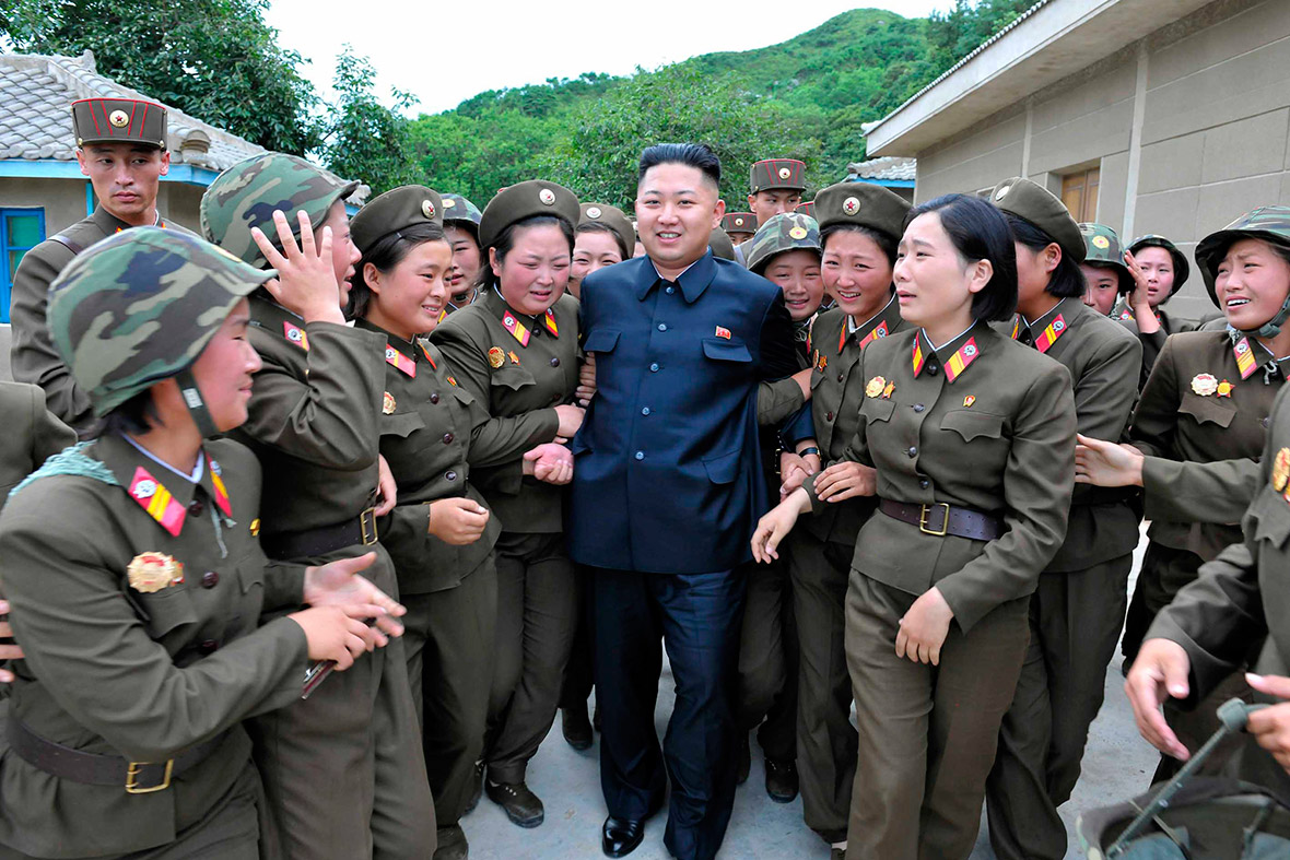 Kim Jong Un receiving popular adoration courtesy of the Ministry of Agitation and Propaganda