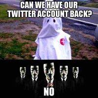 Anonymous picture posted on hacked KKK Twitter account