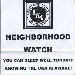 United Klans of America leaflet distributed in Montana