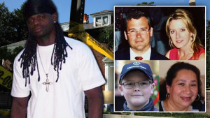 Daron Dylon Wint, left, is charged in the murders of Savvas, Amy and Philip Savopoulos and their housekeeper, Vera Figueroa. They were killed in their Washington, DC mansion, which was then set on fire. (Heavy.com graphic. Photos Facebook)