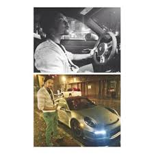 Photos of Jordan Wallace driving and outside Savopoulos's Porsche