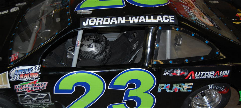 Jordan Wallace's racecar during competition in Richmond, Virginia in 2014