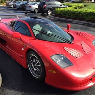 A photo of the Mosler racing car owned by Savopoulos posted by Jordan Wallace in April on one of his social media sites