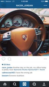 Photo of Savopoulos Porsche posted by Jordan Wallace on his Instagram page in April