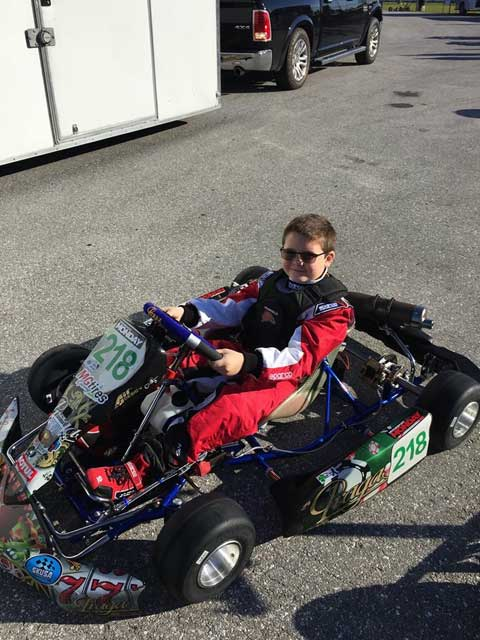 10 year-old Philip Savopoulos on the competitive racing circuit