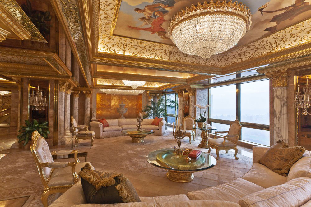 Trumps living room in New York City