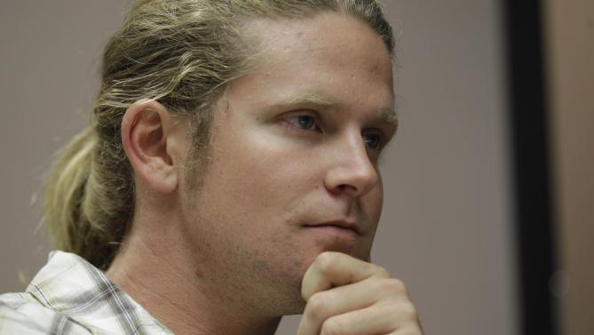 James Ian Tyson, of Charlotte, speaks to an Associated Press reporter, Tuesday, Sept. 4, 2012, in Charlotte, N.C. Tyson says he discovered he was on a terrorist watch list after he was arrested by Charlotte police on a routine traffic violation. He believes he was targeted by police to stop him from organizing protesters during this week's Democratic National Convention in Charlotte. (AP Photo/Chuck Burton)