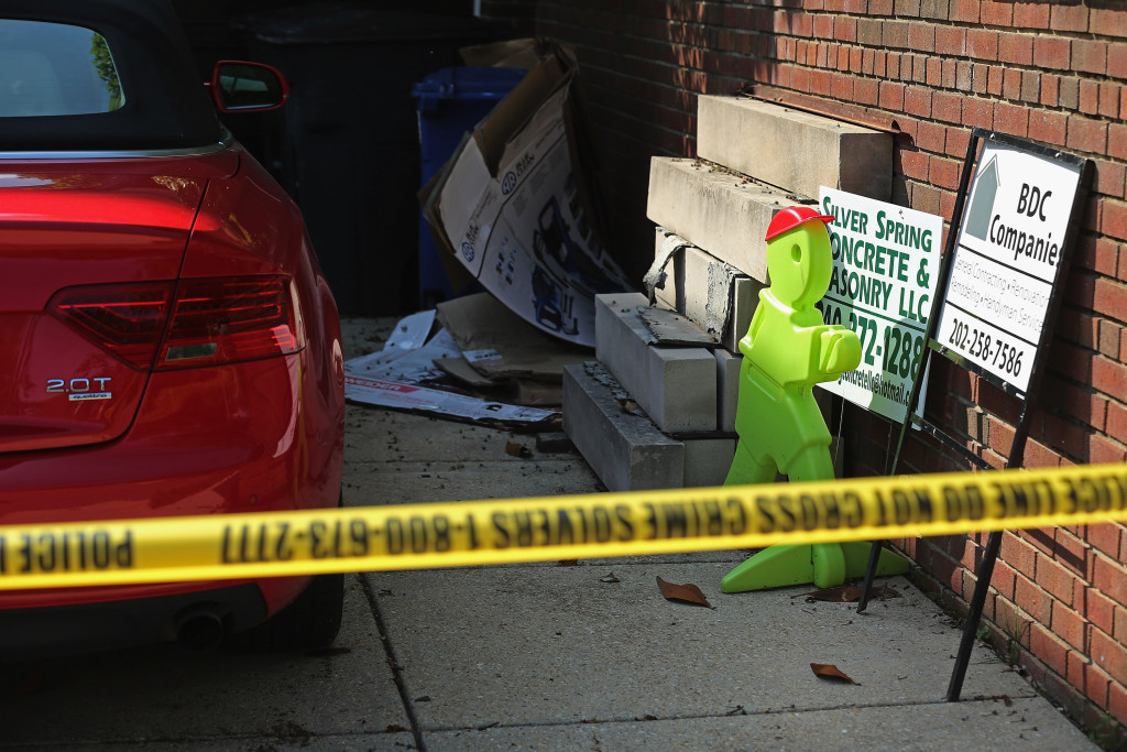 Police tape outside Savopoulos garage (Photo by Chip Somodevilla/Getty Images)