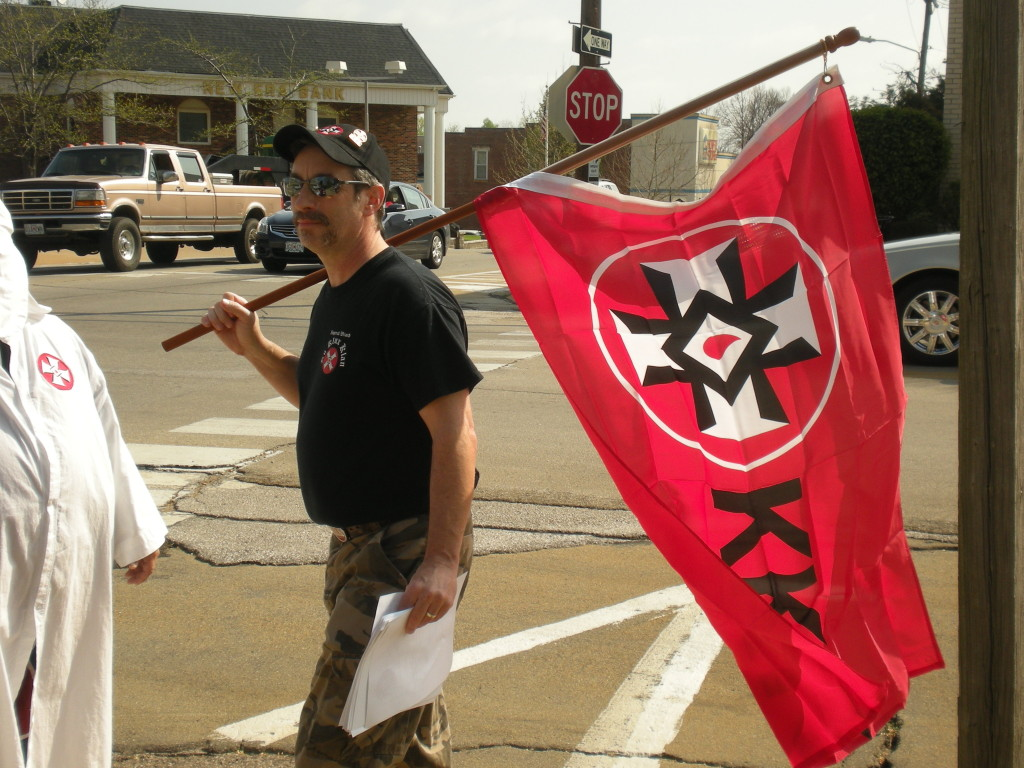Imperial Wizard Frank Ancona at one of his Klan rallies in Missouri