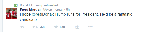 Former talk show host Piers Morgan endorses Trump