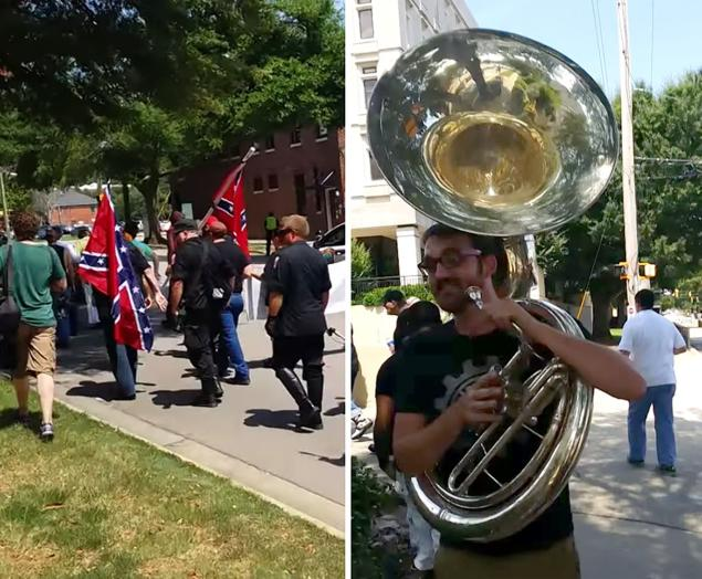 Matt Buck, the South Carolina Tuba player who took on the Nazi's and KKK last week and won
