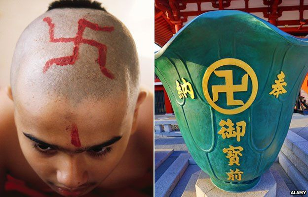 Swastika's as used since 2cd century BC in Hindu religious rituals