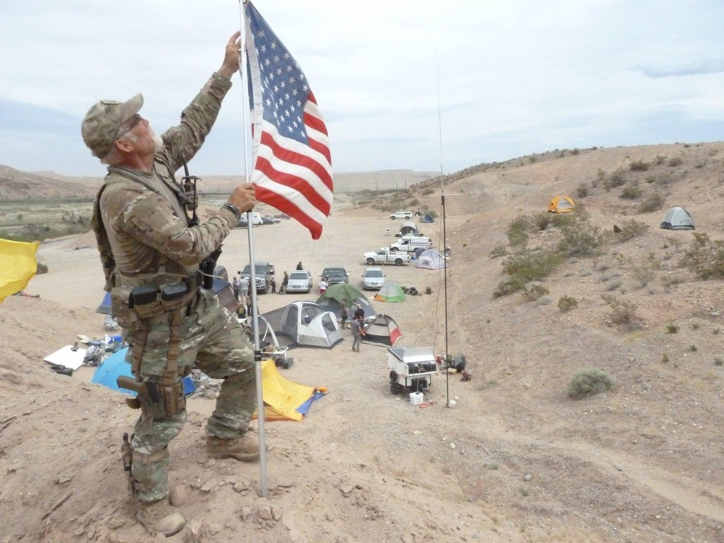 """Sovereign Citizen"" Jerry DeLemes at Bundy Ranch in Nevada 2014"